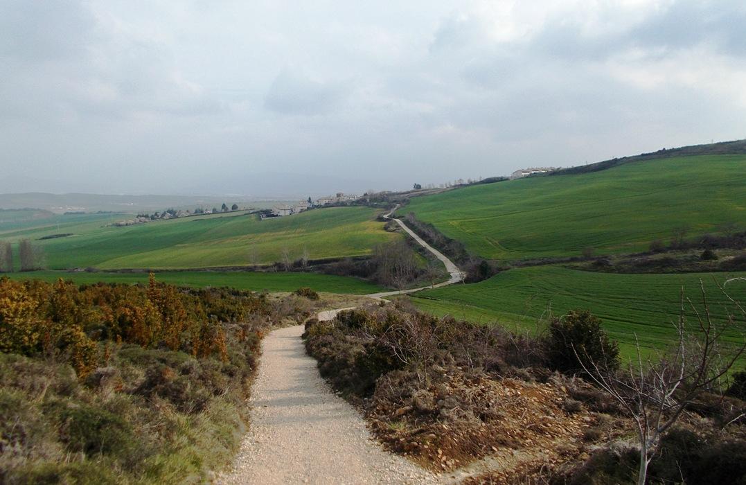 Auf dem bekanntesten Jakobsweg Camino Francés.