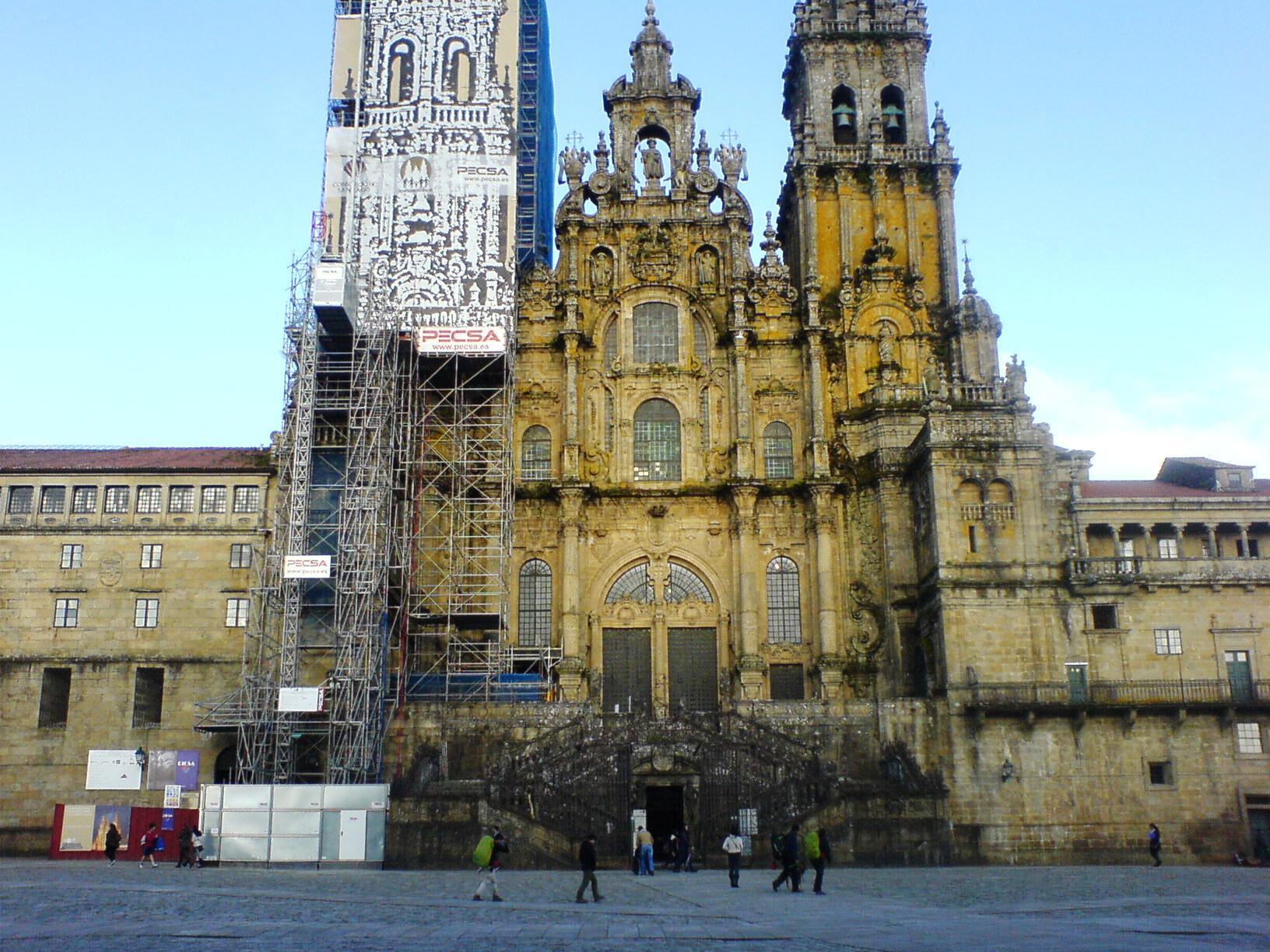 Die Kathedrale von Santiago, geknipst bei meiner ersten Ankunft im März 2014.
